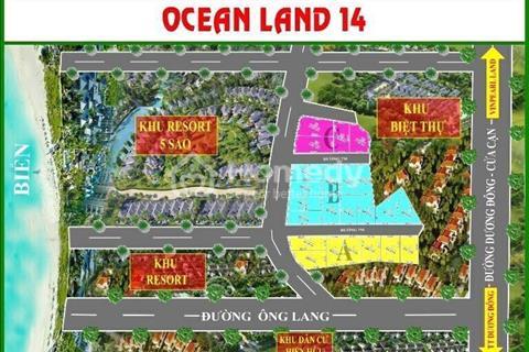 Thiên đường nghỉ dưỡng, sản phẩm Ocean Land 14 biển Ông Lang đất ở ONT 90%