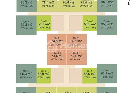 Cắt lỗ bán nhanh căn 72m2, HUD3 Nguyễn Đức Cảnh – Hoàng Mai