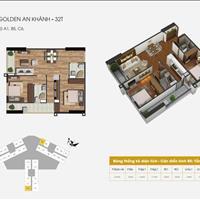 Bán căn 65,7m2 chung cư The Golden An Khánh 32T, nhận nhà ở luôn