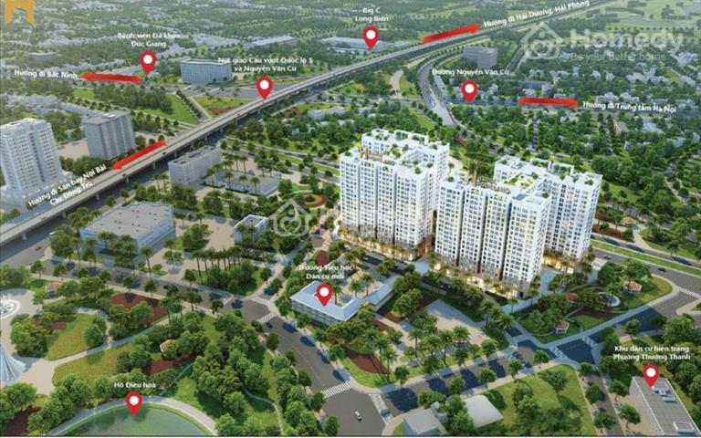 Nhận đặt chỗ Đ2 -  Hà Nội Homeland Nguyễn .Văn Cừ, cách Hồ Gươm 5km, nội thất cơ bản, giá từ 1,1tỷ