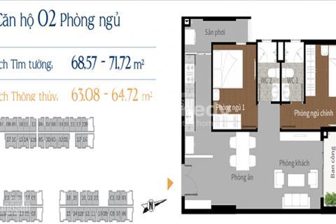 Căn hộ gần cầu Rạch Chiếc Quận 9, tháng 8 nhận nhà 1.9 tỷ/căn 68m2, 2 phòng ngủ, chiết khấu 8%