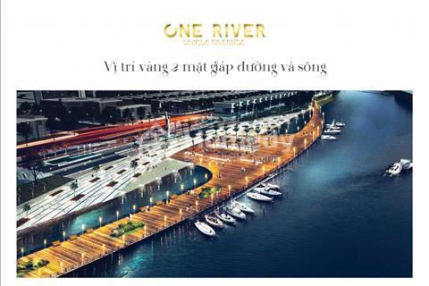 Cực hot mở bán khu biệt thự One River ven sông Cổ Cò, 300m2, chiết khấu khủng, view 2 mặt tiền