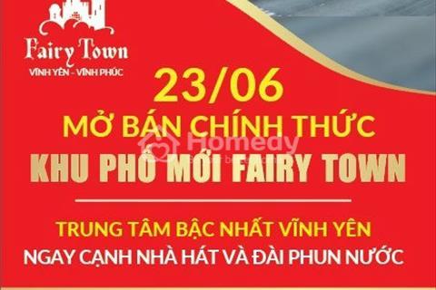 Bán 20 lô ngoại giao đất nền Fairy Town, Vĩnh Yên, sổ đỏ đầy đủ, chiết khấu 150 triệu