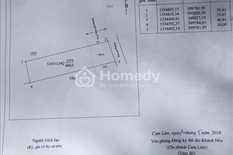 Bán lô đất 10x40m thuộc tổ dân phố Tân Hải, thị trấn Cam Đức