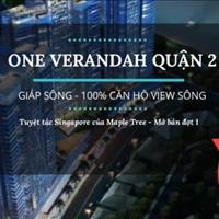 Cơ hội đầu tư cực tốt, dự án One Verandah, 3 mặt view sông Sài Gòn nằm ngay cầu Thời Đại