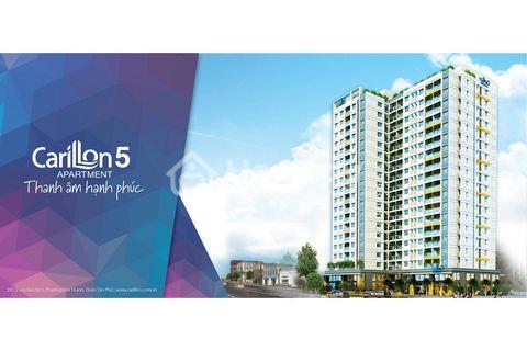 Chính chủ bán gấp căn 1 phòng ngủ tầng thấp dự án Carillon 5, Tân Phú bàn giao nhà tháng 10/2018