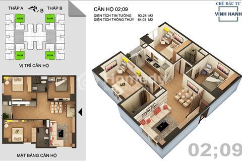 Sang nhượng căn 3 phòng ngủ, căn góc ở Tứ Hiệp, giá 1,4 tỷ