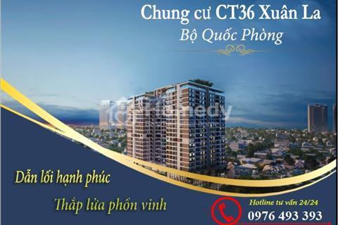 (NEW) Ra bảng hàng ngoại giao dự án CT36 Xuân La, giá gốc chỉ từ 21 triệu/m2- Bao phí chuyển nhượng