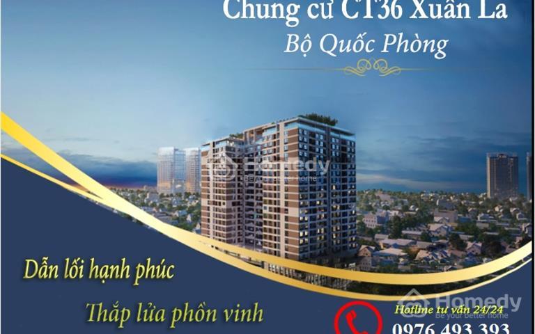 Ra bảng hàng ngoại giao dự án CT36 Xuân La, giá gốc chỉ từ 21 triệu/m2, bao phí chuyển nhượng
