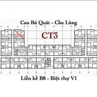 Bán 2 căn hộ tầng trệt CT3 đã hoàn thiện và căn thô, hướng cửa đông nam mát mẻ quanh năm