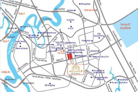 Đầu tư sinh lời với đất nền trung tâm thành phố Nhơn Trạch, dự án Mega City 2