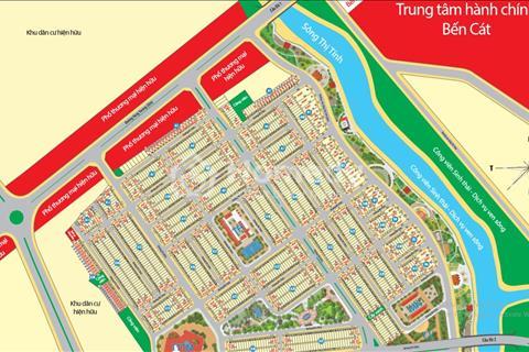 Đất ngay chợ Bến Cát, khu dân cư đông đúc, tiện kinh doanh, giá mềm nhất khu vực, chỉ 550 triệu