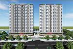 Chung cư Conic Riverside được quy hoạch trên diện tích 463.650,8m2 gồm 2 block cao 22 tầng với 664 căn hộ.