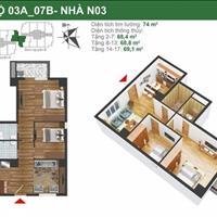 Cần tiền cho con đi du học bán gấp căn 07, N03B chung cư K35 Tân Mai, giá bán 24.1 triệu/m2