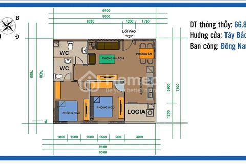 Bán căn hộ 2 phòng ngủ, 66.8m2 tại Ban cơ yếu Chính Phủ vào tên trực tiếp giá gốc chỉ 22.4 triệu/m2