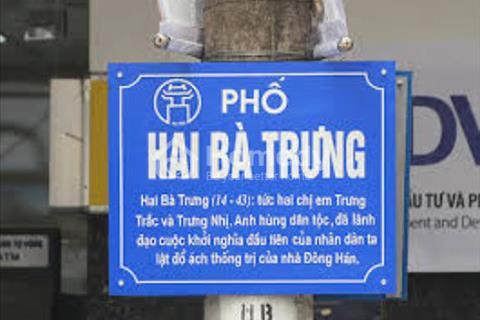 Chính chủ bán nhà mặt phố Hai Bà Trưng, Hoàn Kiếm, 3 tầng, mặt tiền 5m, phù hợp để ở và kinh doanh