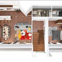 Nghỉ dưỡng đại gia đình view biển Vũng Tàu, căn hộ Skyvilla 2 tầng lầu thông nhau, 4 phòng ngủ lớn