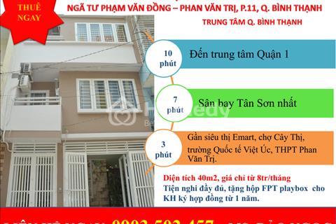Căn hộ mini cao cấp mới 100% tại ngã tư Phạm Văn Đồng - Phan Văn Trị, cho thuê ngay, quà liền tay