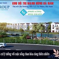 Bán đất nền khu đô thị Mạnh Hùng, Hà Nam, chỉ 3,6 triệu/m2, 1 lô chỉ từ 380 triệu/96m2