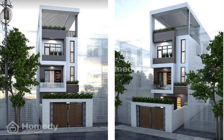 Nhà phố hiện đại 3 lầu - sân 4m - sau lưng shop Con Cung đường Hà Huy Giáp 4,3x18m, 3,35 tỷ