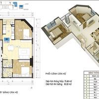 Chiết khấu 100 triệu cho căn 3 phòng ngủ, 76m2 tầng 33 Xuân Mai Riverside giá 1,8 tỷ