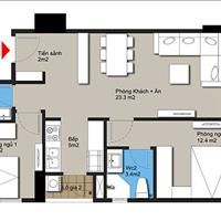 Bán căn hộ 1,1 tỷ 2 phòng ngủ nội thất đầy đủ cách bến xe Mỹ Đình 4km