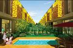 Mẫu nhà tứ quý là kết tinh của mỹ thuật và kiến trúc xanh, giúp cư dân cảm nhận không khí mát xanh len lỏi trong mỗi góc nhà. Mẫu nhà đơn lập tại Eco Sun được thiết kế với khoảng sân bên hôn, trước sau các dãy nhà được bố trí so le, tạo sự thông thoáng.