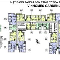 Bán gấp cắt lỗ căn hộ Vinhomes Gardenia, căn 3506-A2, diện tích 110.6m2, giá 30.7 triệu/m2