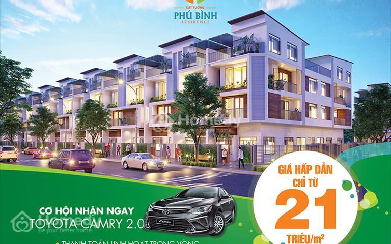 Tặng xe Camry 2018, hàng ngàn cây vàng SJC 9999 khi mua đất nền Cát Tường Phú Bình, giá 21 triệu/m2