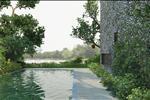 Hầu như mọi biệt thự đều có lối đi hoặc quang cảnh nhìn ra sông, và được thiết kế khéo léo để đảm bảo không gian riêng tư cho cư dân.