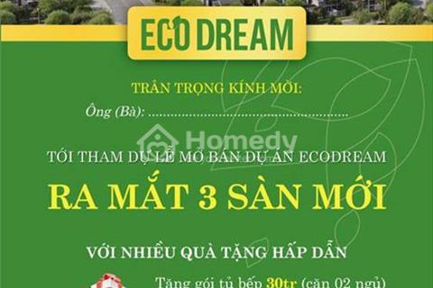 Mua Eco Dream tặng gói tủ bếp 40 triệu và 3 chỉ vàng cho 50 khách full nội thất, điều hòa âm trần
