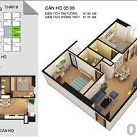Cần bán lại căn hộ 2 phòng ngủ tại Tứ Hiệp Plaza mới bàn giao chưa vào ở