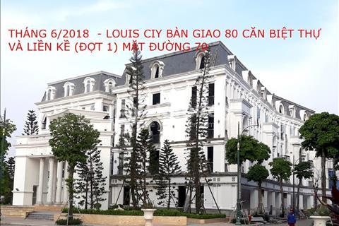 Liền kề vườn II tại khu đô thị Louis City Đại Mỗ 105m2, hướng Tây Bắc, giá 51 triệu/m2