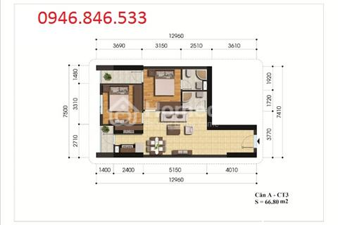 Chính chủ cần bán căn hộ 69m2 (2 phòng ngủ, 2WC) chung cư 885 Tam Trinh - Hoàng Mai đang nhận nhà