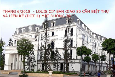 Bán liền kề 1 khu đô thị Louis City Đại Mỗ, hướng đông nam, 105m2, đường 21,5m, giá 68 triệu/m2