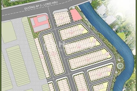 Bán đất nền khu thương mại Thần Tài Riverside Long Hậu Long An chỉ 864 triệu/nền