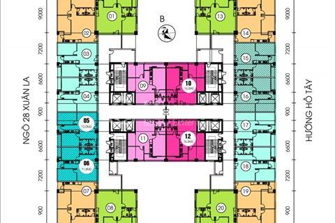 Cần bán gấp chung cư cao cấp cạnh Hồ Tây, view Hồ Tây siêu thoáng mát giá 28 triệu/m2, 76m2