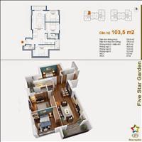 Chính chủ bán gấp căn 3 phòng ngủ Five Star tòa G4, 102.06m2, giá 27.5 triệu/m2