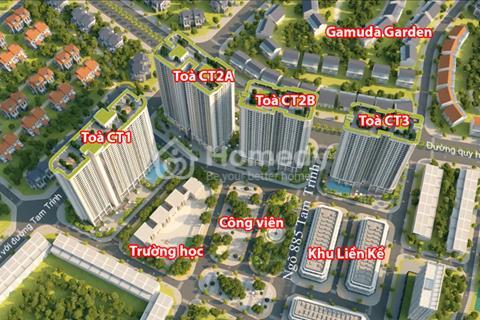 Bán gấp Geleria Riverside 885 Tam Trinh 2 căn 1820-CT1 (89.2m2), 1612-CT2B (70.33m2), 17 triệu/m2