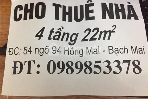 Cho thuê nhà riêng 4 tầng giá 5 triệu/tháng Hà Nội