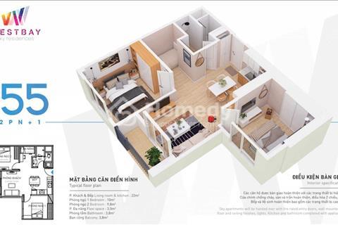 Chính chủ cần bán căn hộ West Bay Sky Residences 55m2, bao phí chuyển nhượng