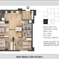 Chính chủ cần bán lại căn hộ Officetel 2 phòng ngủ đẹp nhất dự án, giá chỉ 43 triệu/m2