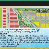 Đất nền dự án Bari City, thành phố Bà Rịa giá chỉ từ 4.5 triệu/m2