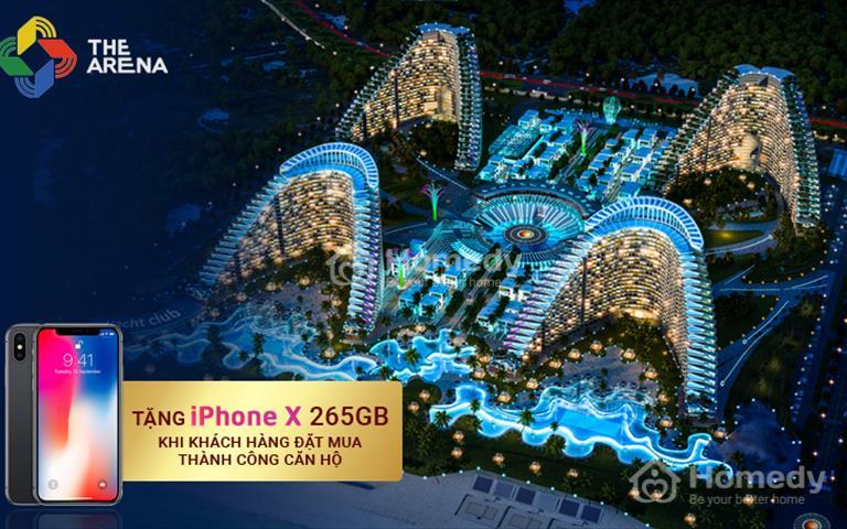Nhận ngay Iphone X 265G khi đặt mua căn hộ tại The Arena Cam Ranh kèm 15 đêm nghỉ dưỡng tại Bãi Dài