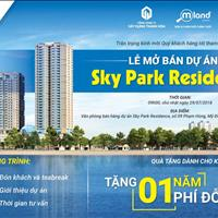 Thư mời lễ giới thiệu và mở bán dự án Sky Park Residence, quà tặng hấp dẫn