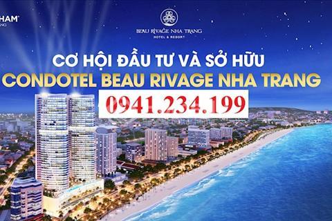 Beau Rivage Nha Trang Condotel Trần Phú view biển full nội thất, cam kết mua lại 150%, LN 12%/năm