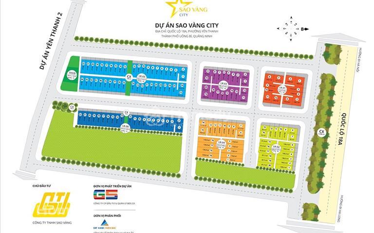 Cần bán lô đất 86m2, hướng Bắc, mặt đường quốc lộ 18A - Thành phố Uông Bí, Quảng Ninh