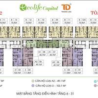 Chị Linh cần bán gấp Ecolife Capitol 75,9m2, căn 15-09, giá rẻ 26 triệu/m2