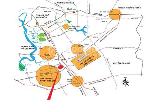 Bán đất nền dự án thổ cư góc quốc lộ 51 và đường 25B
