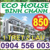 Khu đô thị Eco House nằm tại vị trí đắc địa mặt tiền Đinh Đức Thiện nối dài, gần chợ Bình Chánh